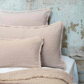 Cushion cover Ibiza Nude in cotton gauze