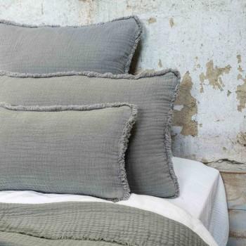 Cushion cover Ibiza Glacier in cotton gauze