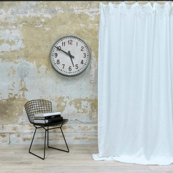White cotton gauze curtain with knobs 140X270 CM
