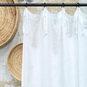 Rideau en gaze de coton blanc