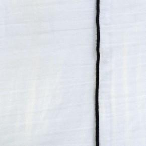 Rideau gaze de coton blanc bourdon noir