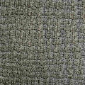 Plaid en gaze de coton vert