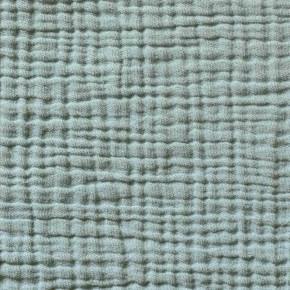 Housse de couette gaze de coton bleu minéral