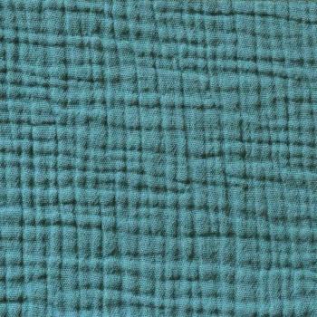 Emerald cotton gauze pillow cover