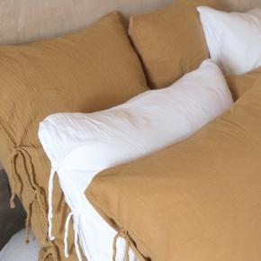camel pillowcover cotton gauze