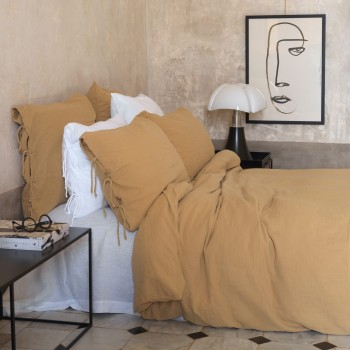 Camel cotton gauze duvet cover