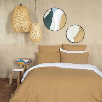 Bedspread Minorca cotton gauze camel