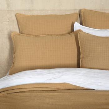 Cushion cover Minorca cotton gauze camel