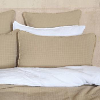 Cushion cover Minorca cotton gauze mastic