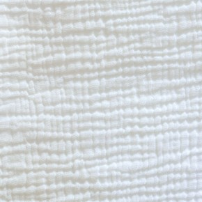 White cotton gauze fitted sheet