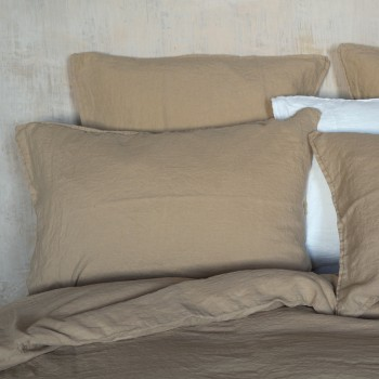 Mastic washed linen pillowcase