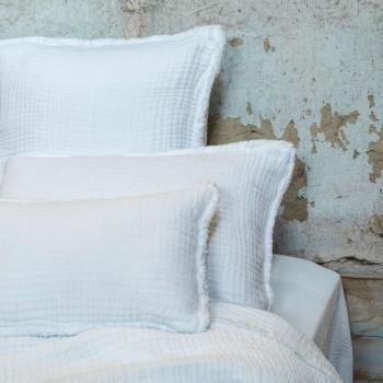 Cushion Ibiza white in cotton gauze 35X50
