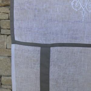 Store en lin Marseille gris