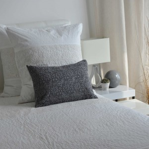 Gray Nantes cushion