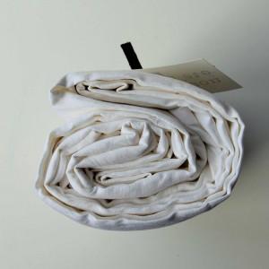 Drap housse lin lavé blanc