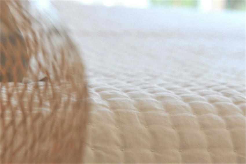 Dessus de lit Plumetis Blanc Maison d'été