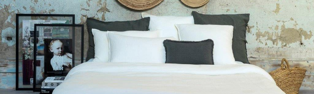 Milk cotton gauze duvet cover