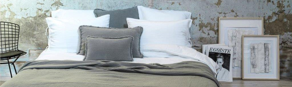 Glacier Ibiza bedspread in cotton gauze